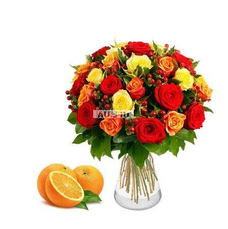 Bouquet Dominica + Oranges as a gift