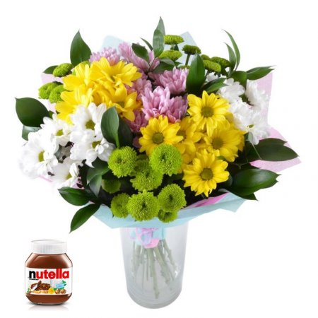 Buy flowers and Nutella in our online shop