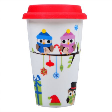 Product Ceramic cup with owls